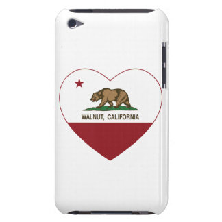 california flag walnut heart barely there iPod cases