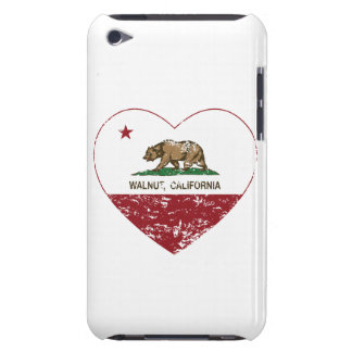 california flag walnut heart distressed barely there iPod covers