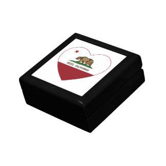 california flag weed heart jewelry box