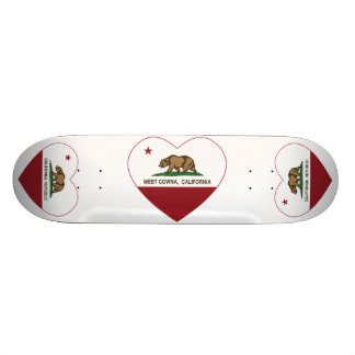 california flag west covina heart 18.4 cm mini skateboard deck