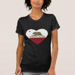 california flag westminster heart tshirts