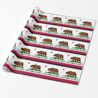 California Flag Wrapping Paper