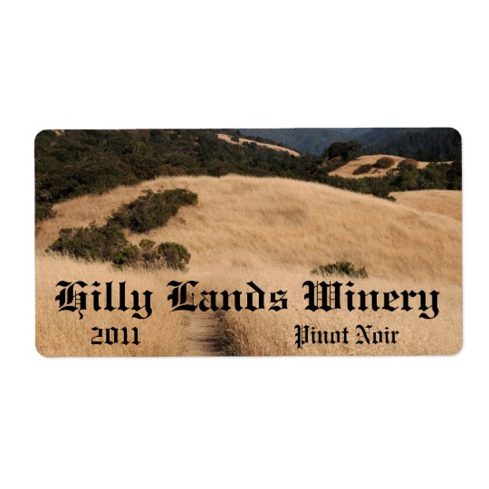 California foothills trail horizontal wine label