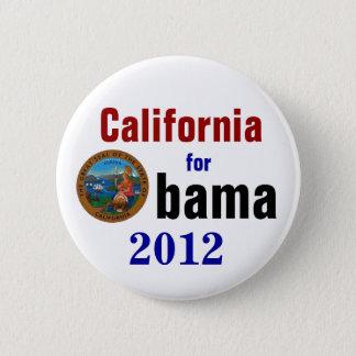 California for Obama 2012 6 Cm Round Badge