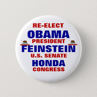 California for Obama Feinstein Honda 6 Cm Round Badge