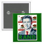 California for Rand Paul 15 Cm Square Badge