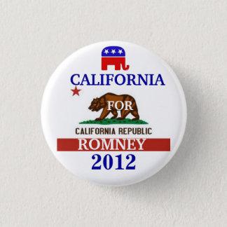 California for Romney 2012 3 Cm Round Badge