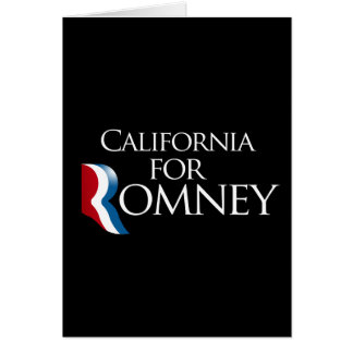 California for Romney-.png Greeting Card