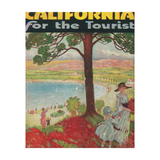 California For The Tourist Poster Canvas Print