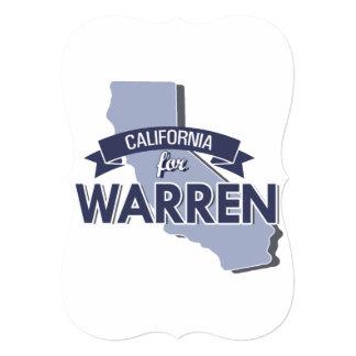 CALIFORNIA FOR WARREN CARD
