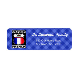 California French American Address Labels