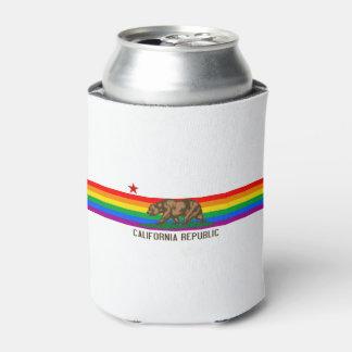 California Gay Pride Flag Can Cooler