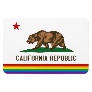 California Gay Pride Flag Rectangular Photo Magnet