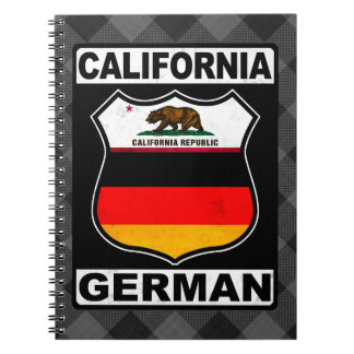 California German American Notepad Notebook