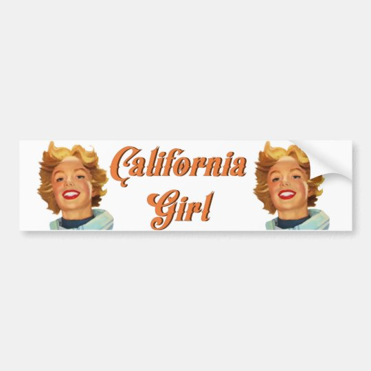 California girl bumper sticker