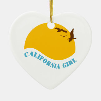 California Girl Ceramic Heart Decoration