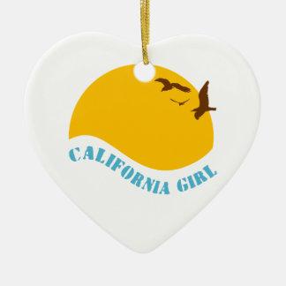 California Girl Christmas Ornament