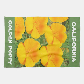 California Golden Poppy Tea Towel