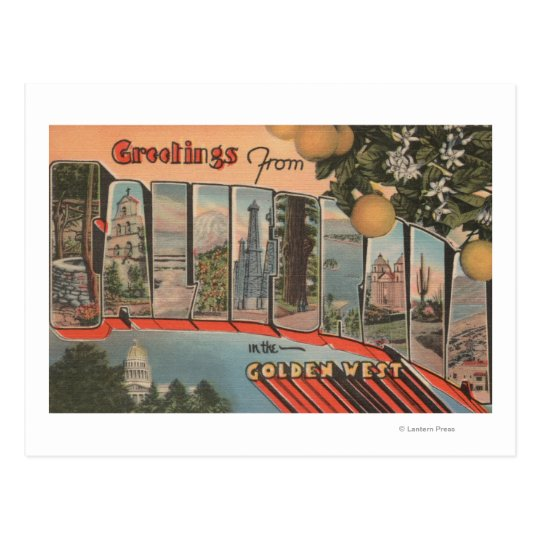 California (Golden West)Large Letter Scenes Postcard