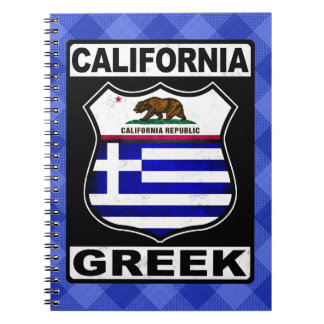 California Greek American Notepad Notebook