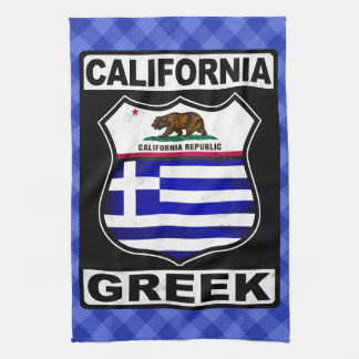 California Greek American Tea Towel