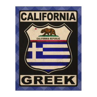California Greek American Wood Print