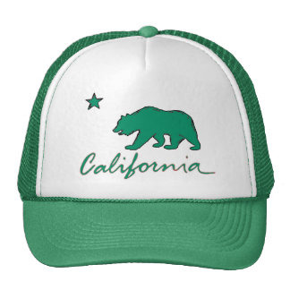 California green theme local flag artistic hat