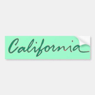 California green theme writing bumpersticker bumper sticker
