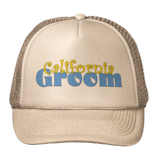 California Groom Mesh Hats