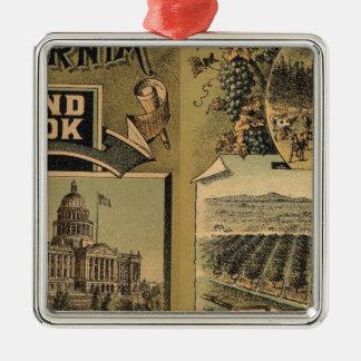 California hand book christmas ornament