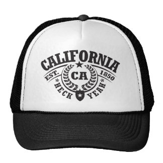 California, Heck Yeah, Est. 1850 Trucker Hats