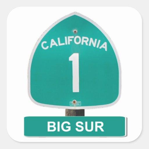 California Highway 1 Big Sur Stickers