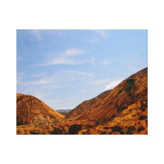 California Hills Stretched Canvas Prints
