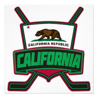 California Hockey Logo Shield Personalized Announcements
