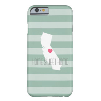 California Home State Love with Custom Heart Barely There iPhone 6 Case