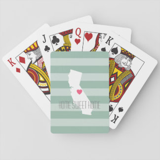 California Home State Love with Custom Heart Playing Cards