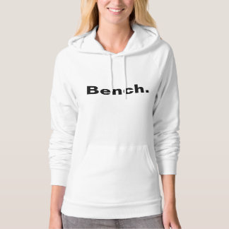 California hoodie in white showing the word Bench.