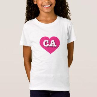 California Hot Pink Heart - Big Love T-Shirt
