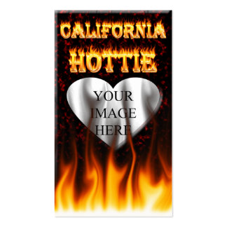 California hottie fire and flames design. pack of standard business cards