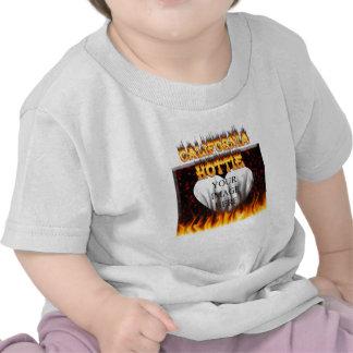 California hottie fire and flames design. t shirt