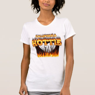 California hottie fire and flames tank top