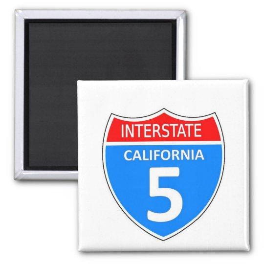 California interstate 5 magnet