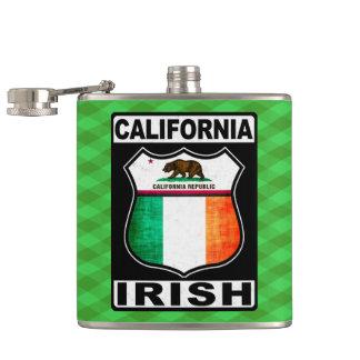 California Irish American Hipflask Flask