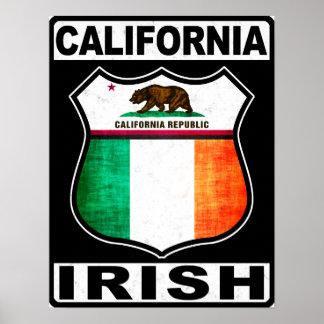California Irish American Poster