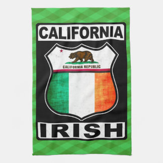 California Irish American Tea Towel