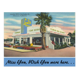 California, K. C. Jones Drive-in Postcard