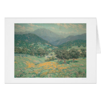 California landscape with Poppies (1213) Greeting Card