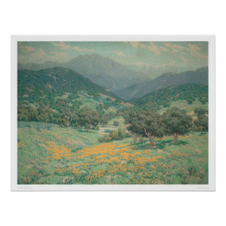 California landscape with Poppies (1213) Poster