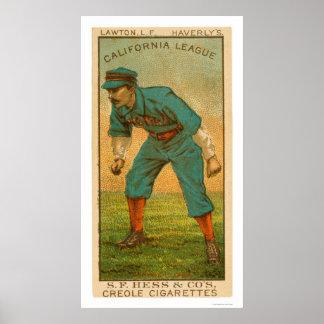 California League Baseball 1888 Poster