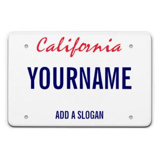 California License Plate (personalised) Rectangular Photo Magnet
